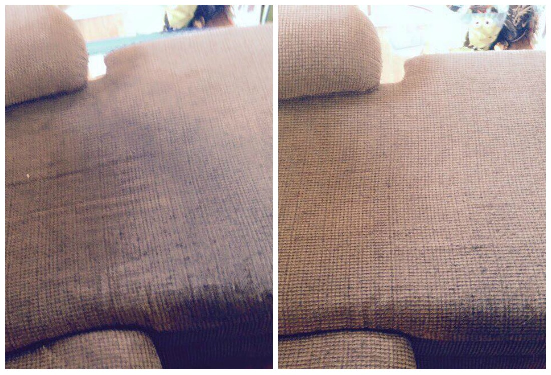 Upholstery Cleaning Before And After A Team Carpet Clean Inc