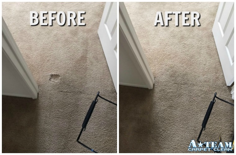 carpet repair before and after