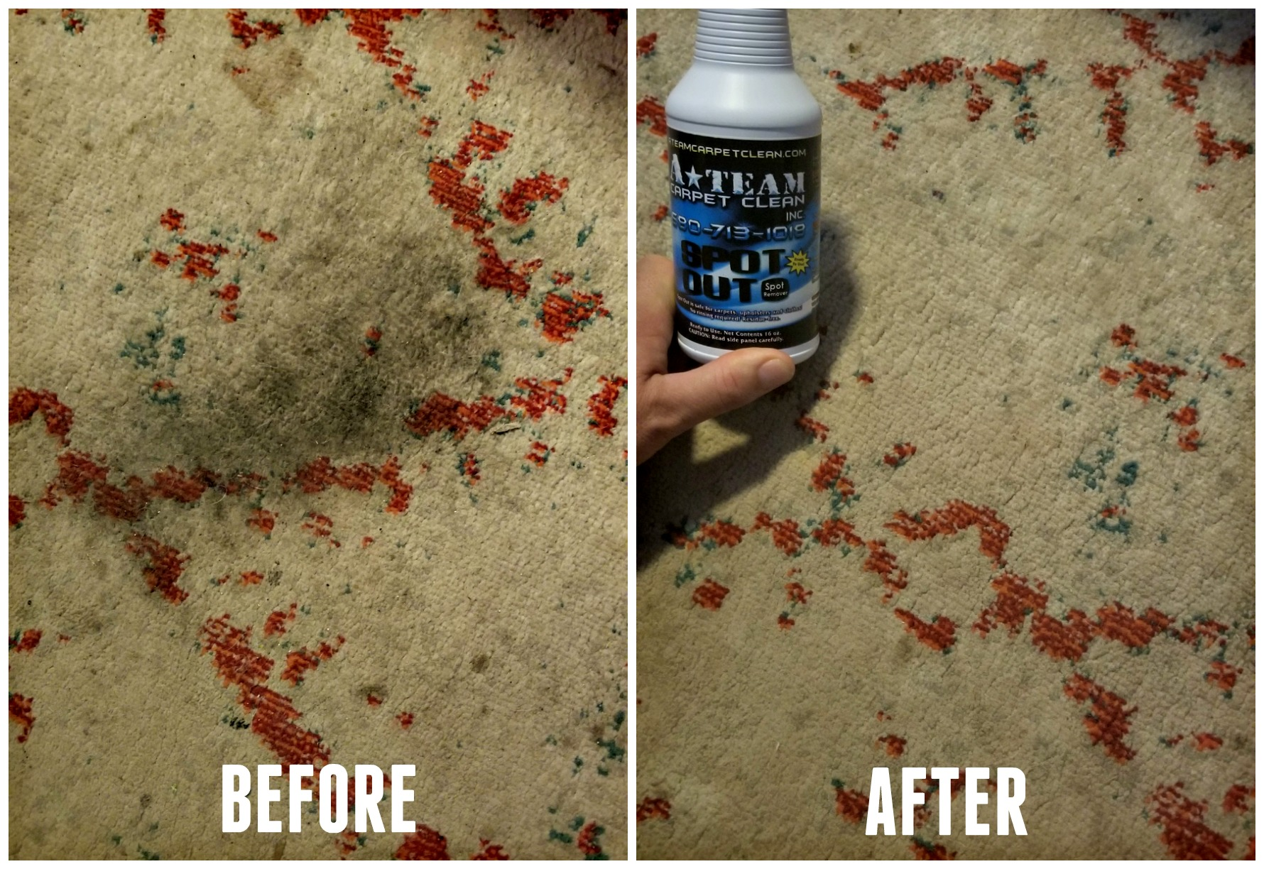 spot out stain remover before after