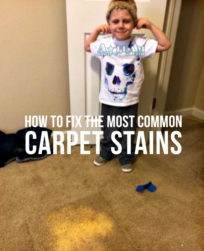 how to fix the most common carpet stains