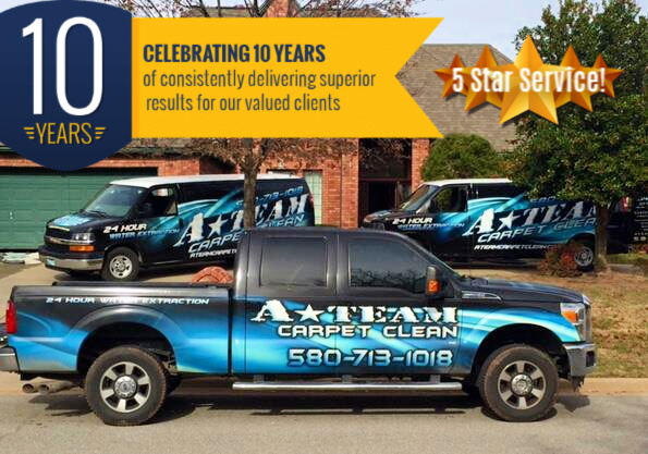 A-Team Carpet Clean Celebrates 10 Years!